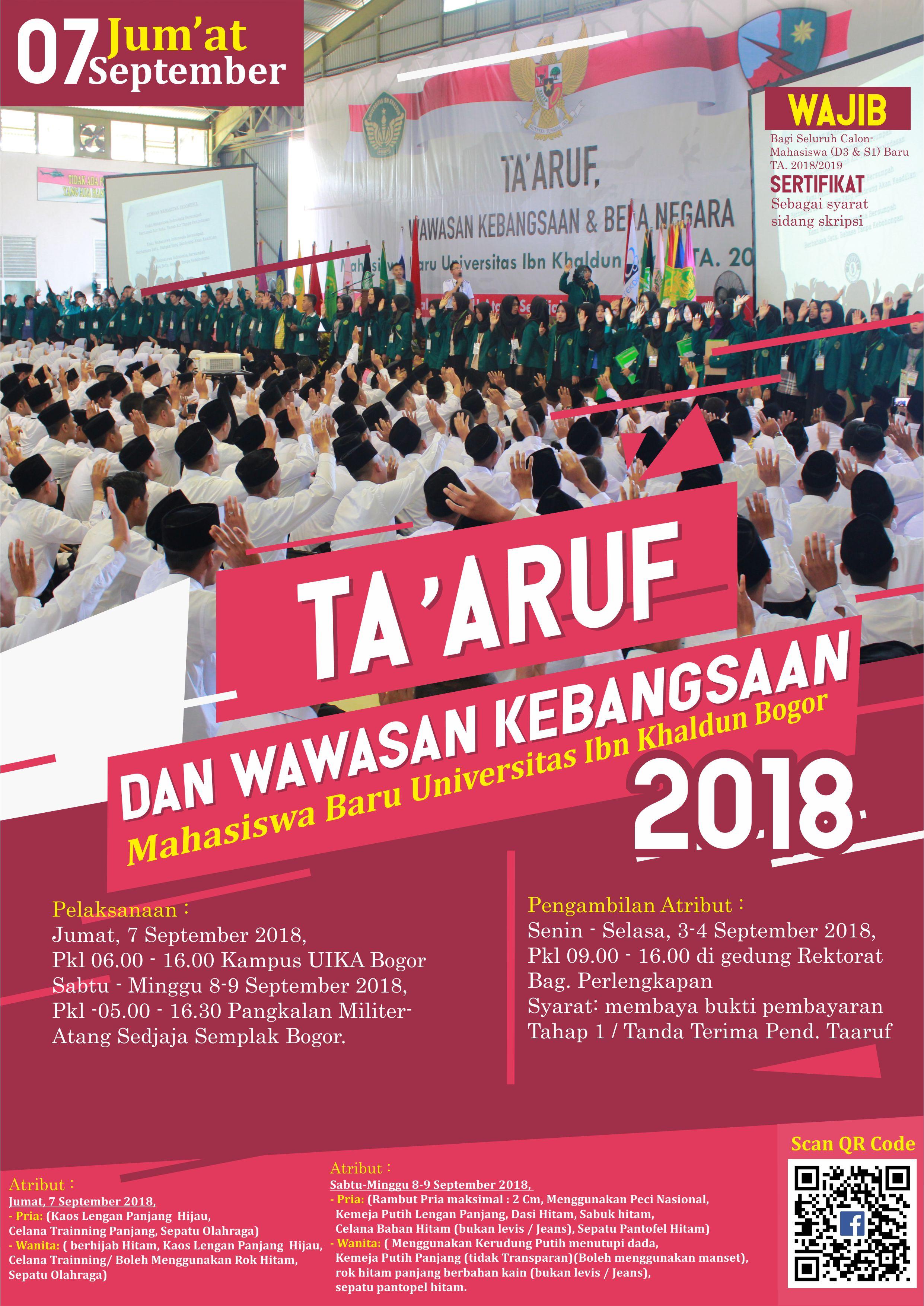 PELAKSANAAN TAARUF DAN WAWASAN KEBANGSAAN MAHASISWA BARU TA.2018/2019