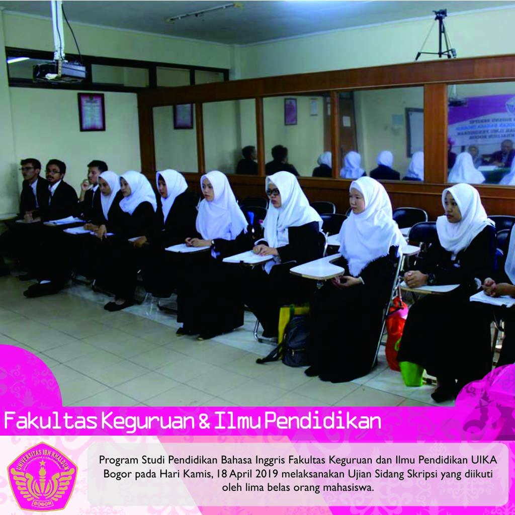 Sidang Skripsi Pendidikan Bahasa Inggris