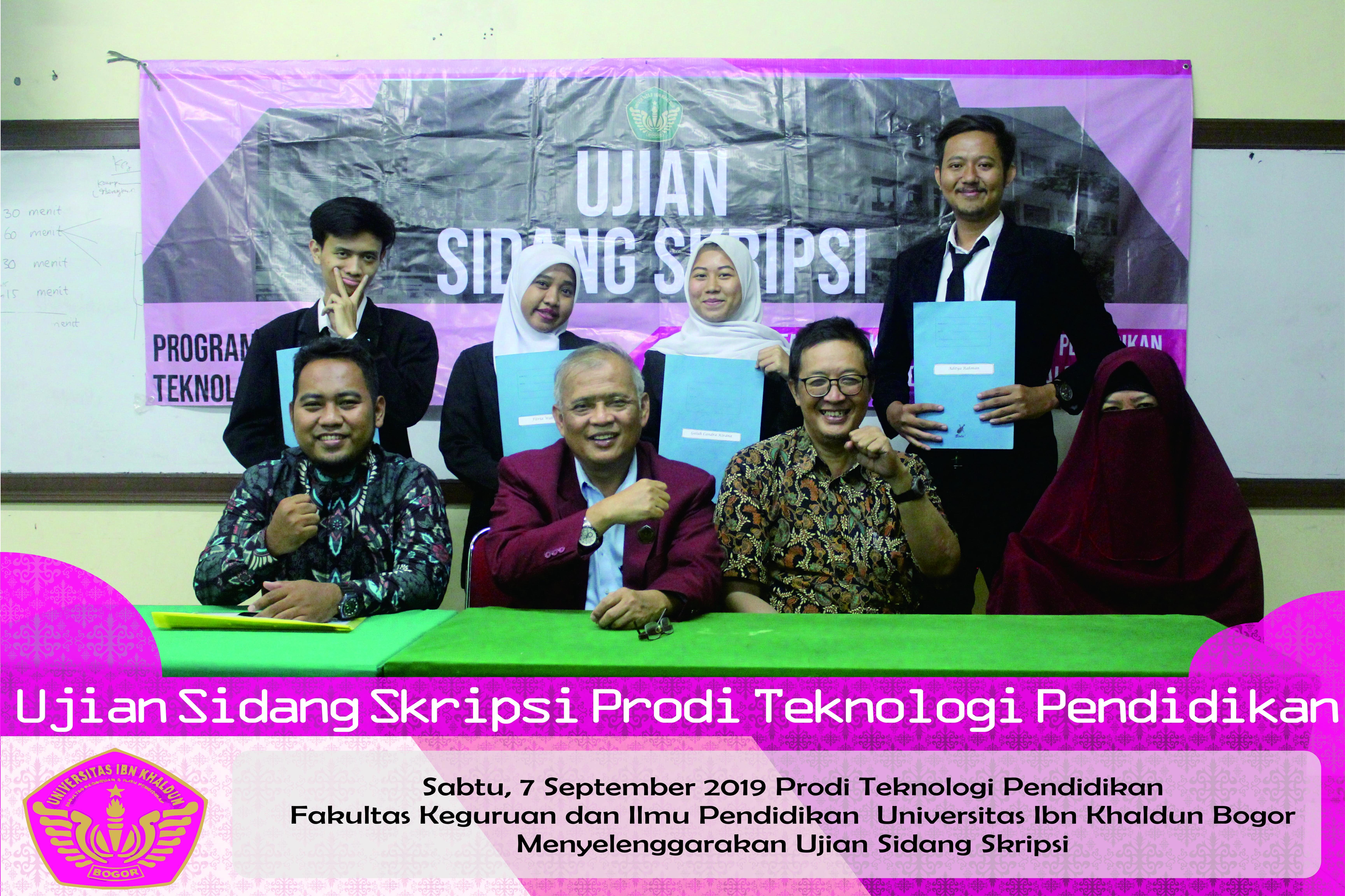 Ujian Sidang Prodi Teknologi Pendidikan Fakultas Keguruan dan Ilmu Pendidikan UIKA Bogor