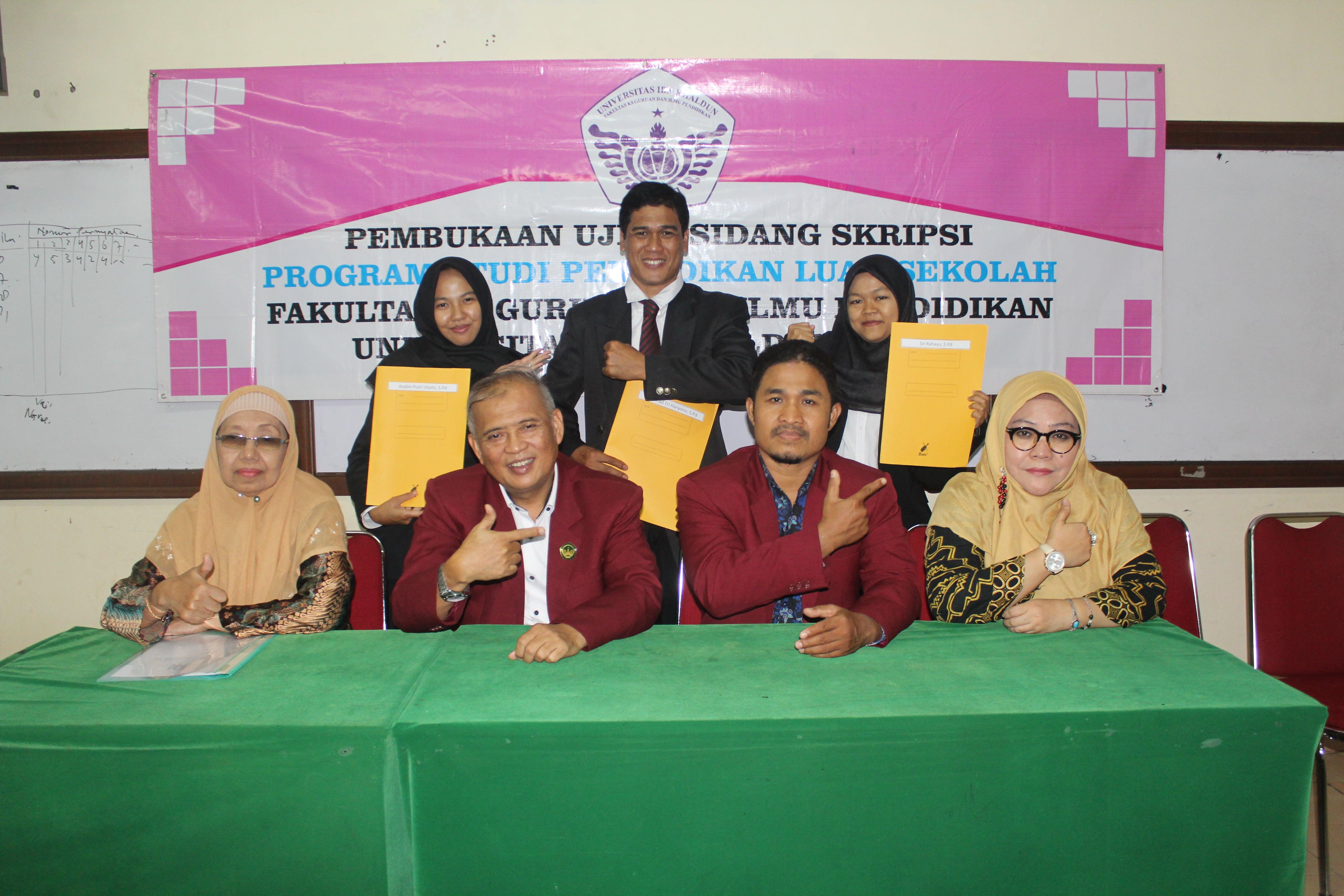 """Sidang Skripsi Prodi """"Pendidikan Masyarakat"""" FKIP UIKA Bogor"""